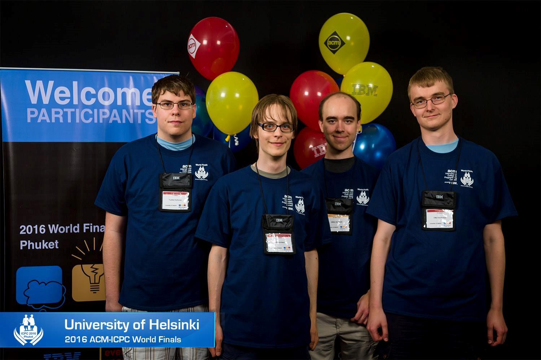 Sinh viên Đại học Helsinki tại chung kết ICPC World (cuộc thi lập trình danh giá nhất và lâu đời nhất thế giới dành cho học viên các trường đại học, cao đẳng toàn cầu)